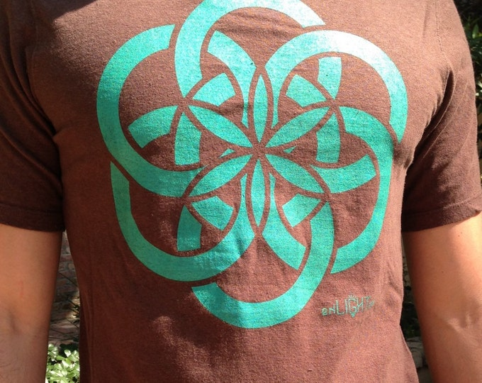 Atom, Organic Cotton And Hemp T-Shirt Featuring The Seed Of Life. Art By Melanie Bodnar. Original Sacred Geometry Clothing by Enlighten