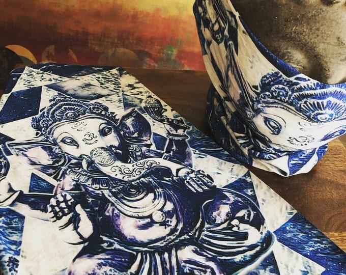 Face Mask / Face Shield - Ganesh Sri Yantra - By Enlighten Artist Justin Chamberlain - Enlighten Clothing Co
