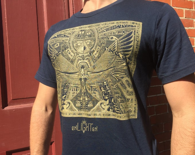 Egyptian Map Organic Bamboo Cotton Tee, Design By Clinton Hurst