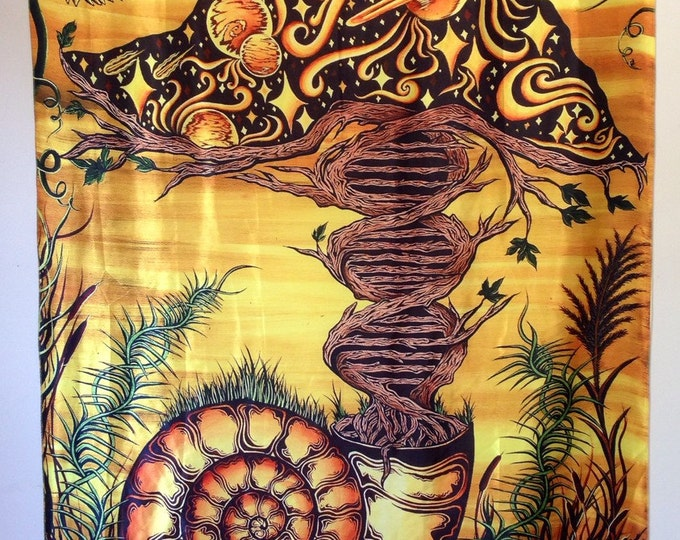 DNA Tree Double Helix Tapestry. Design By Melanie Bodnar Of Enlighten Clothing Co.