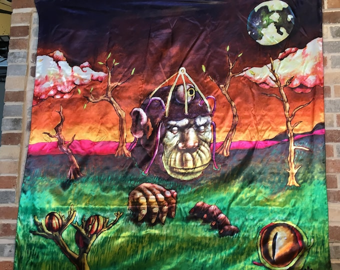 Monkey Brains Tapestry, Original Artwork By Miguel Poskone For Enlighten Clothing Co.