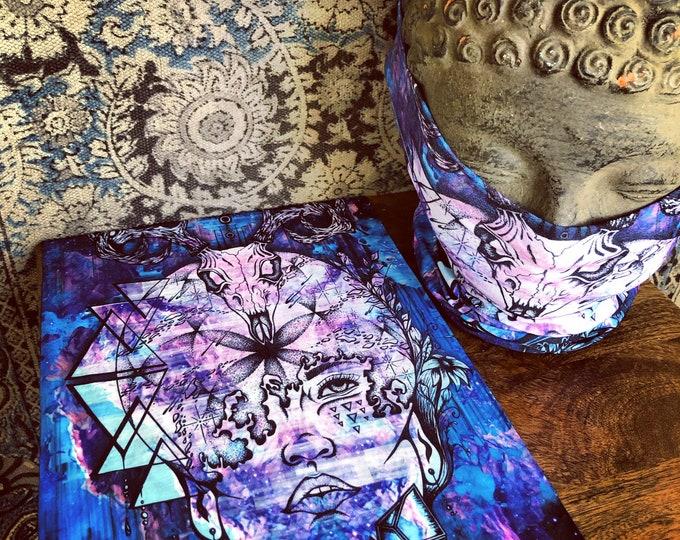 Face Mask / Face Shield - Natural Mystic - By Enlighten Artist Melanie Bodnar - Enlighten Clothing Co