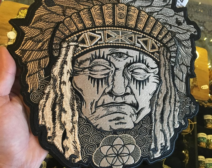 Native Chief Extra Large Stash Patch