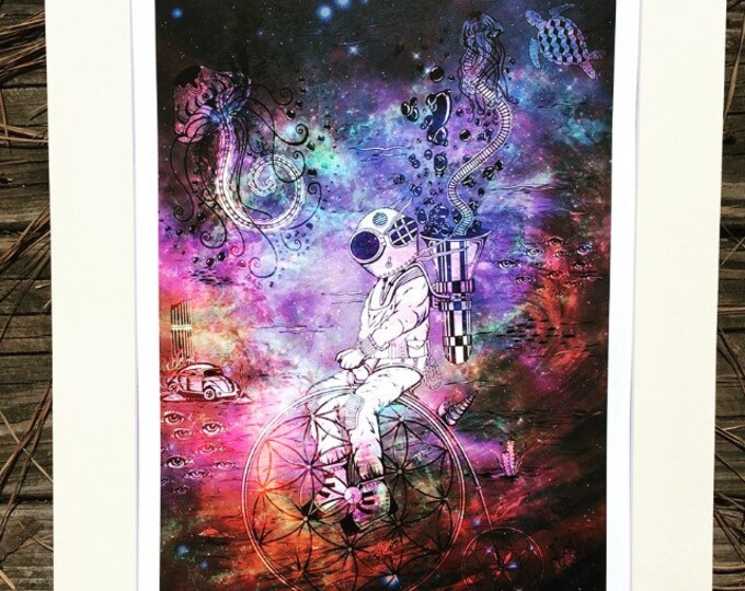 Penny Farthing By Melanie Bodnar Enlighten Clothing Co Steampunk Submariner Flower Of Life Jellyfish