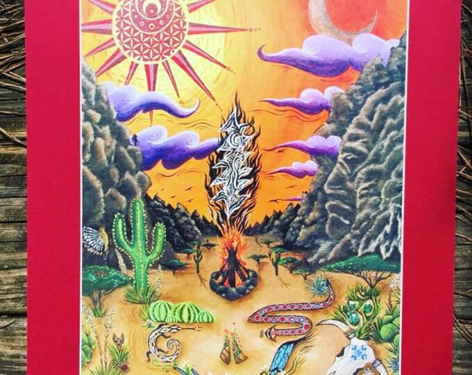 El Paso Print, Painting By Melanie Bodnar Enlighten Clothing Co
