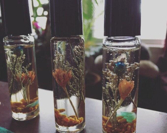 Body Oil Secret Garden Handmade By Enlighten Artist Melanie Bodnar.