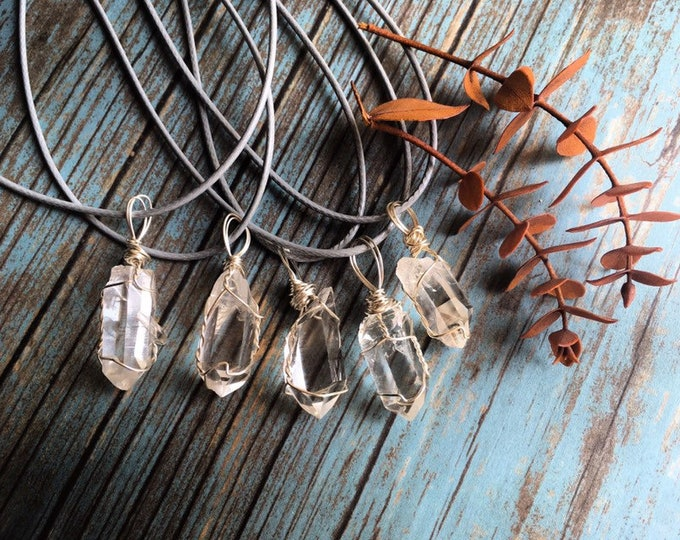 Quartz Crystal Point Wire Wrapped Pendants By Enlighten Clothing Co By Enlighten And Enlightened