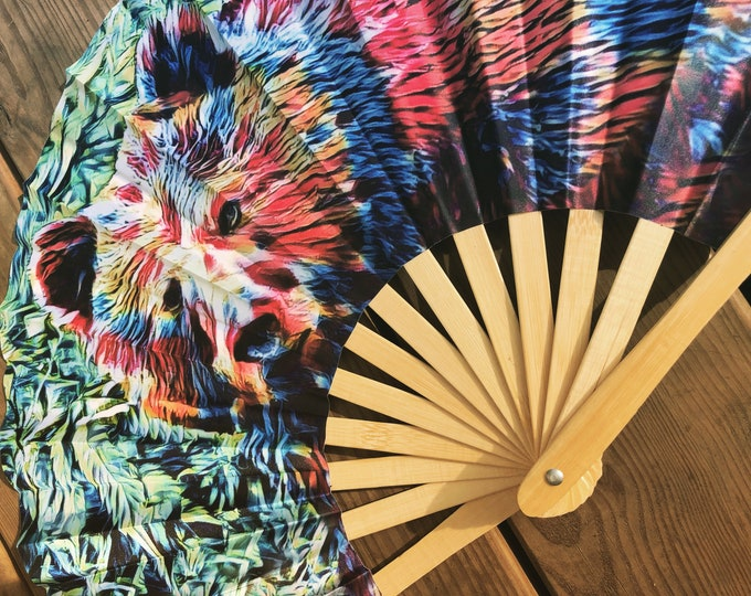 Canabear Clacking Hand Fan