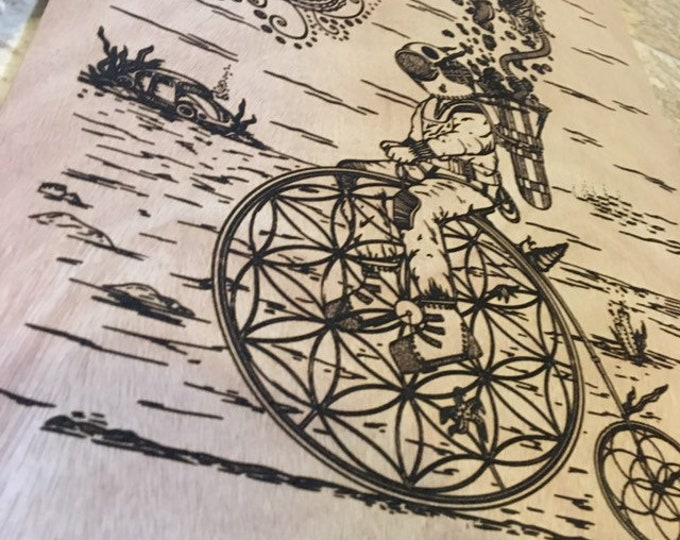 Penny Farthing Wood Engraving