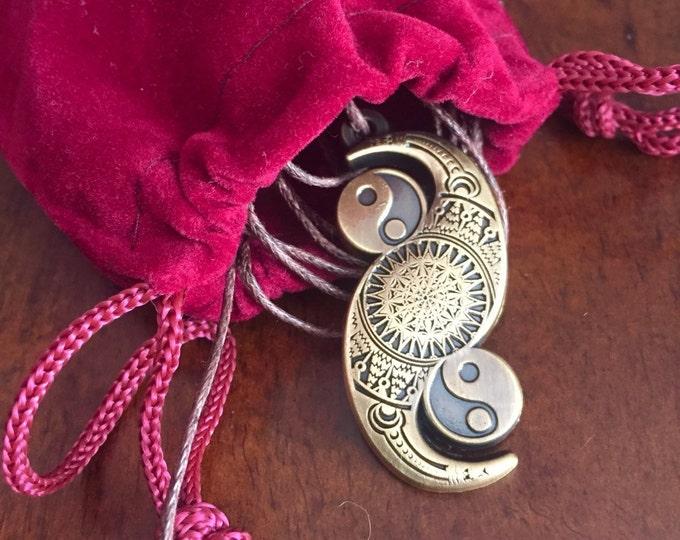 Yin Yang Infinity Sacred Geometry PendantTalisman Phi Harmony Golden Ratio Amulet