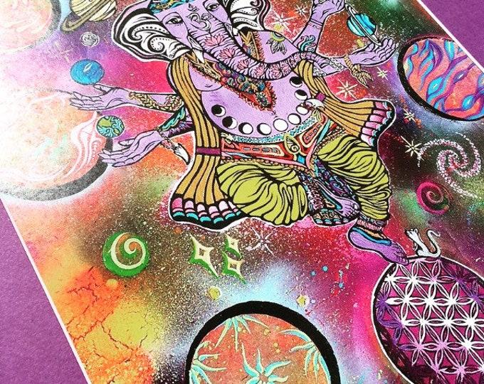 Balance By Melanie Bodnar Enlighten Clothing Co Ganesh Space Planets Flower Of Life