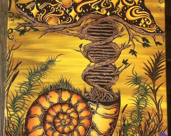 DNA Tree Canvas Print
