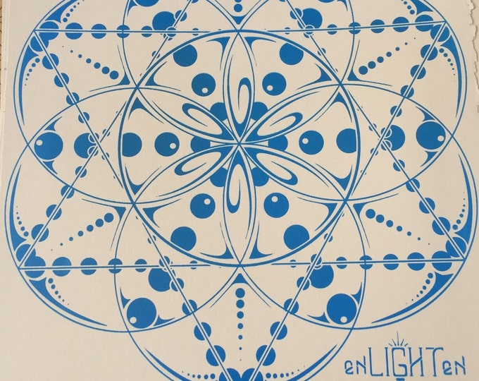 Drop, Original Screenprint By Enlighten Clothing Company, Artwork By Tyler Epe. Original Sacred Geometry Art Prints By Enlighten