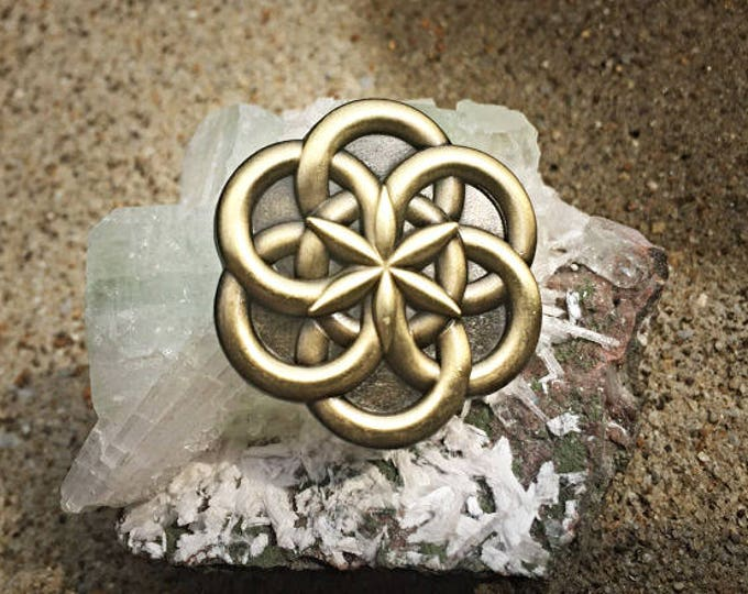 Atom Sacred Geometry Hat Pin By Melanie Bodnar and Enlighen Clothing co.