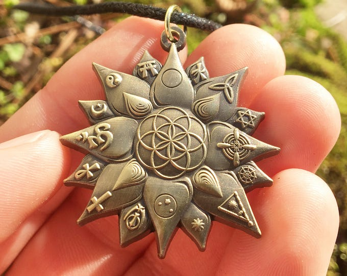 Lotus Seed Of Life Pendant. Original Design By Melanie Bodnar For Enlighten Clothing Co