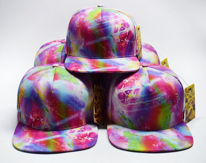 Marbleized Madness Multi Color Flat Brim Hat