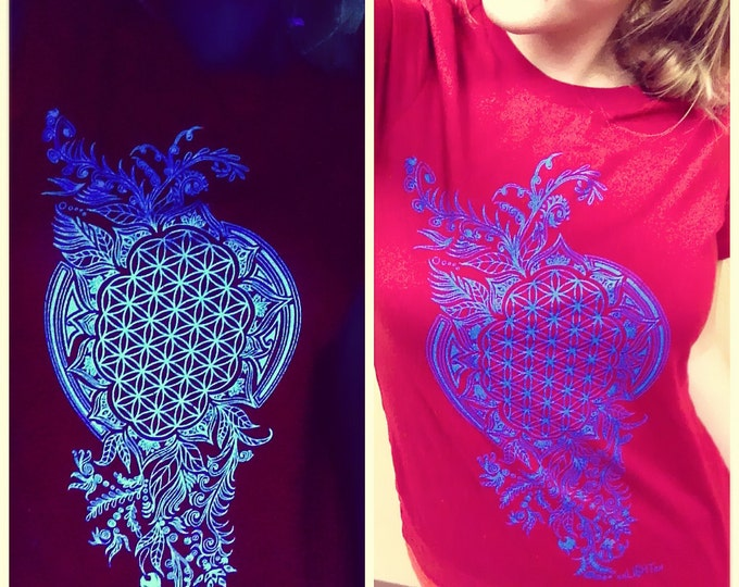 Girls Tee Grow Original Sacred Geometry Clothing by Enlighten