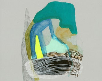 """Abstract Landscape Print // """"Delicate Temperatures 1"""""""