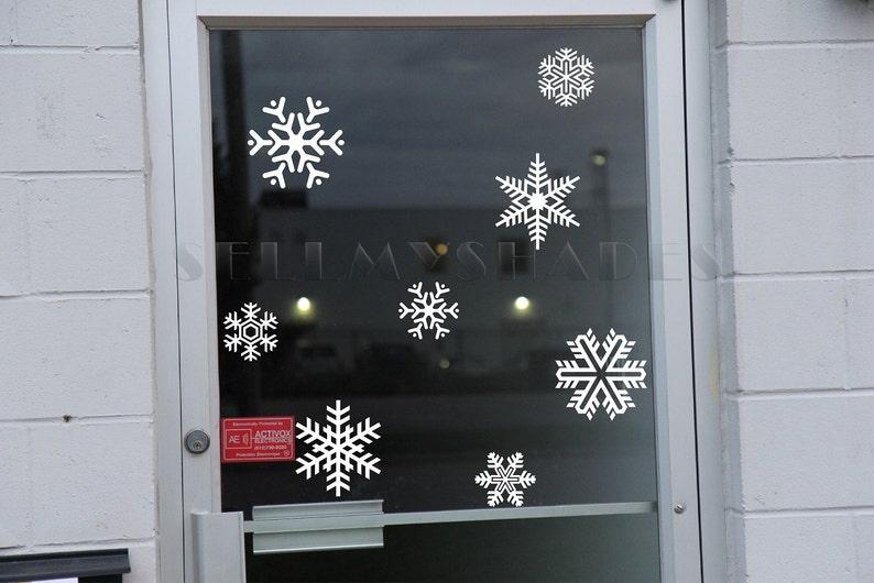 42 Christmas Snowflakes kit Holiday home wall art Vinyl decal stickers Xmas