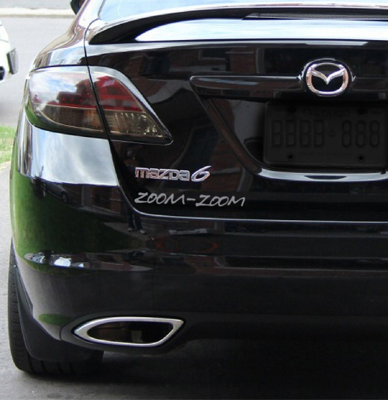 3482a234b6fd 2 x Zoom Zoom pegatina coche etiqueta Mazda Mazdaspeed 3 6