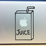 Apple Juice Cute Macbook Decal Laptop Sticker Apple Vinyl MacBook Air Macbook Pro