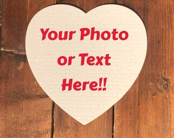 Custom 75 Piece Heart Shaped Photo Jigsaw Puzzle with free gift box! - BUY 2 GET 1 FREE!!!