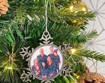 Custom photo ornament, snowflake ornament, photo ornament, picture ornament, christmas ornament, Double Sided Avail!