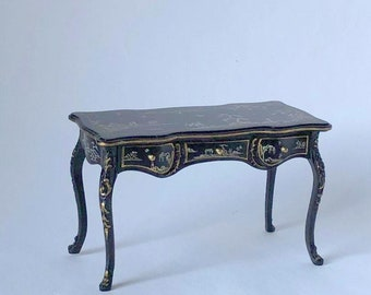 Miniature Dollhouse Or Room Painted 3 drawer desk J31009bbs