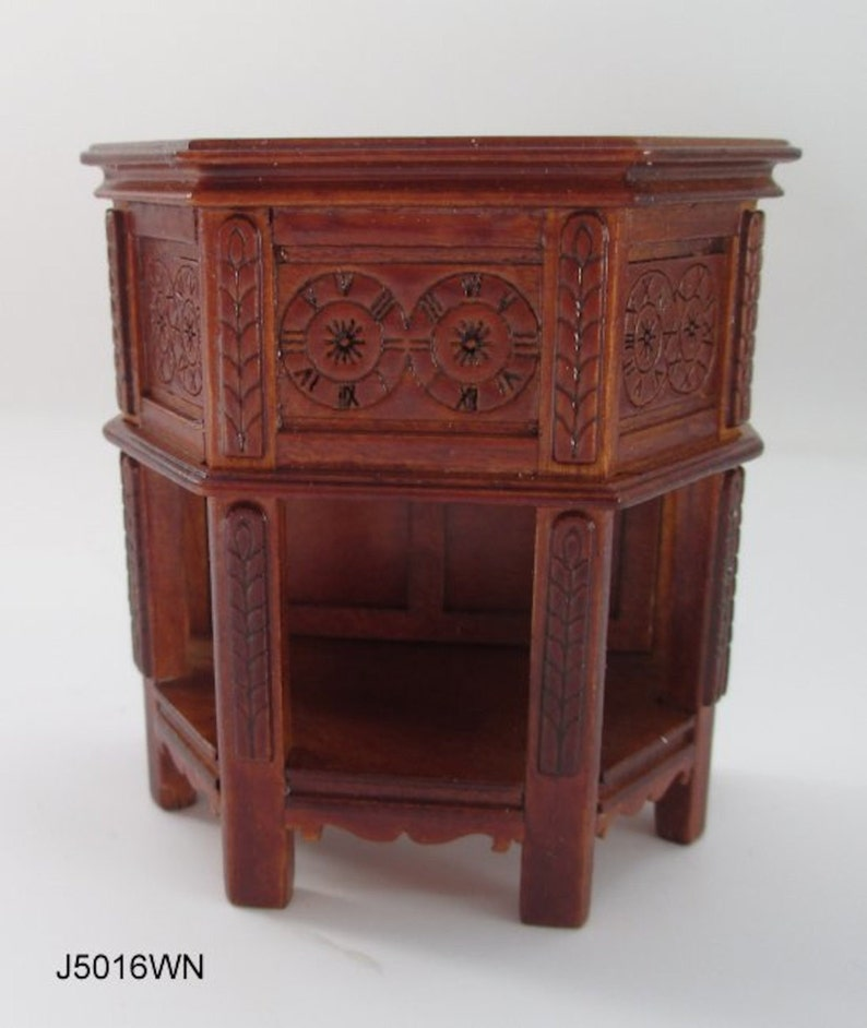 Pendule Horloge de cuisine noir maison de poupée mobilier décoration miniatures 1:12