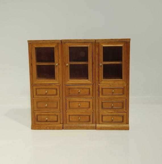 Dollhouse side cabinet furniture piece 1:12 scale