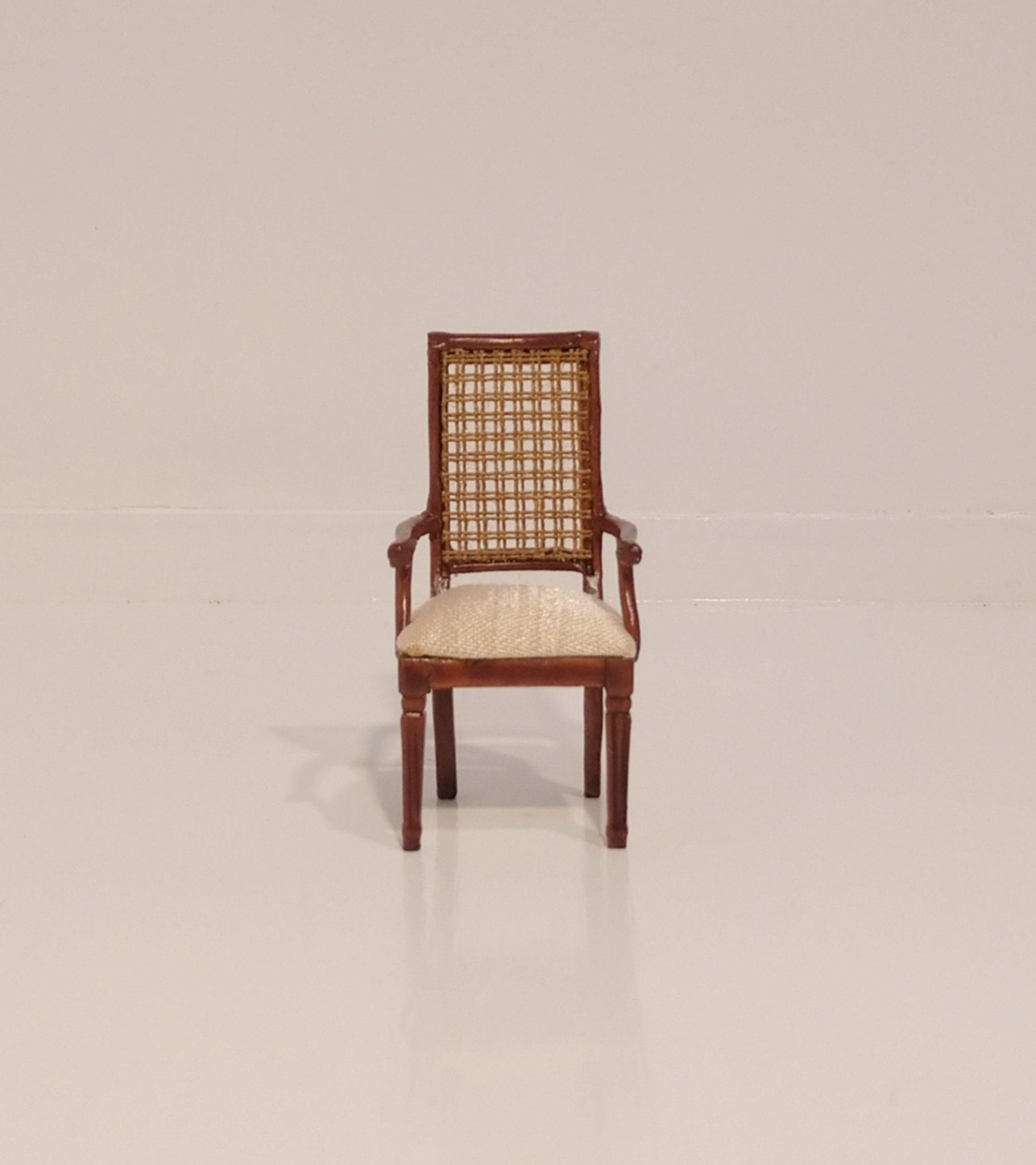 1:12 scale miniature dollhouse American Victorian carver arm chair JBM