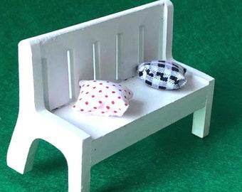 Fairy garden or dollhouse garden bench