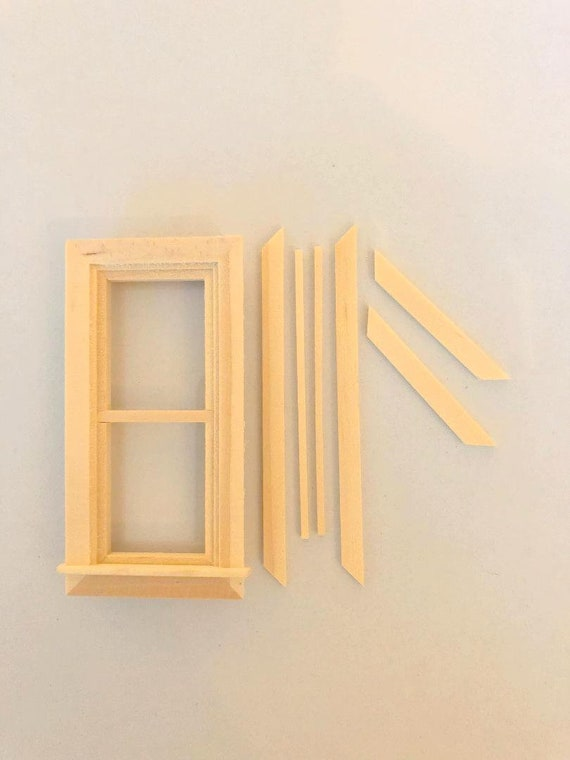1:12 Scale Dollhouse Miniature Double Casement Window from Houseworks