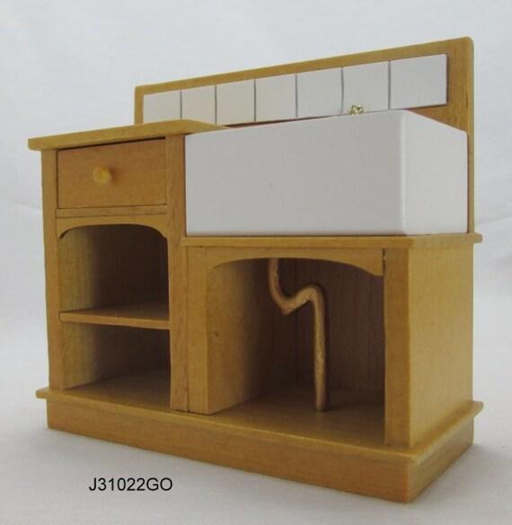 1 12 Scale Miniature Dollhouse Kitchen Sink Jbm J31022go Etsy