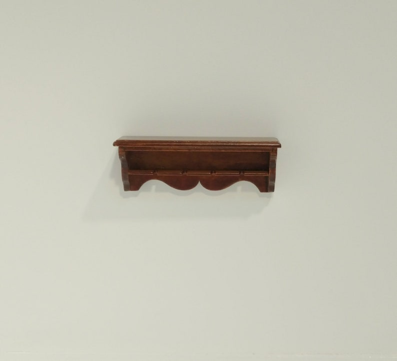 Dollhouse Miniature 1:12 Scale Oak wall shelf Artist Made Furniture