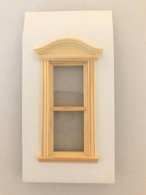 Dollhouse Miniature Window or Door Balcony Half Round Unfinished 1:12 Scale 3/""