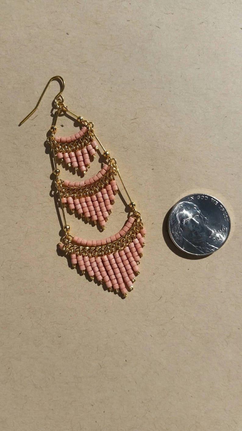 Orange Chandelier Earrings Coral Chandelier Earrings Earrings with Orange beads Boho Earrings Coral Chandelier Earrings Dangle Earrings