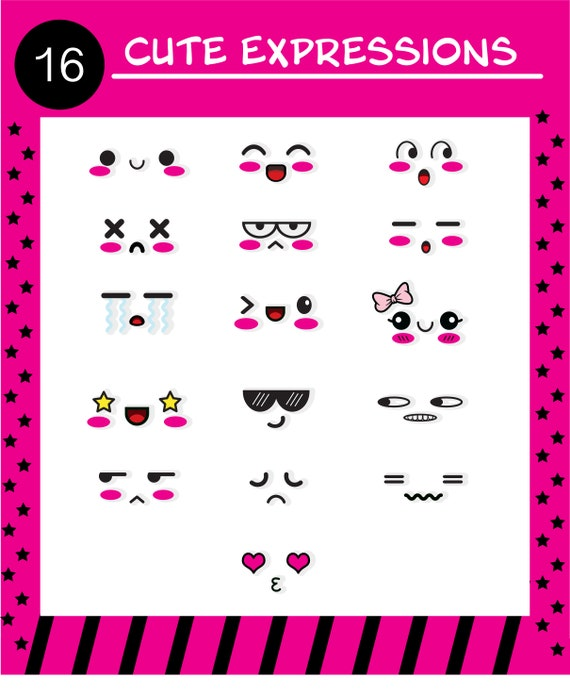 Ai Svg Png Kawaii Eyes Cute Eyes Face Expressions Etsy Vector emotion smile cartoon, kawaii japanese anime illustration. ai svg png kawaii eyes cute eyes face expressions