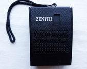 1968 Portable Transistor AM Radio Zenith Brand Vintage Radio Electronics
