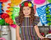 Mexican dress vestido mexicano cambaya pom poms mexican party fiesta mexicana uno fiesta first birthday cinco de mayo day of the dead coco