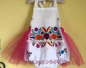 5ff16054f56 Baby mexican romper mexican outfit fiesta mexicana day of the dead cinco de  mayo uno fiesta first birthday cake smash mexican outfit tulle