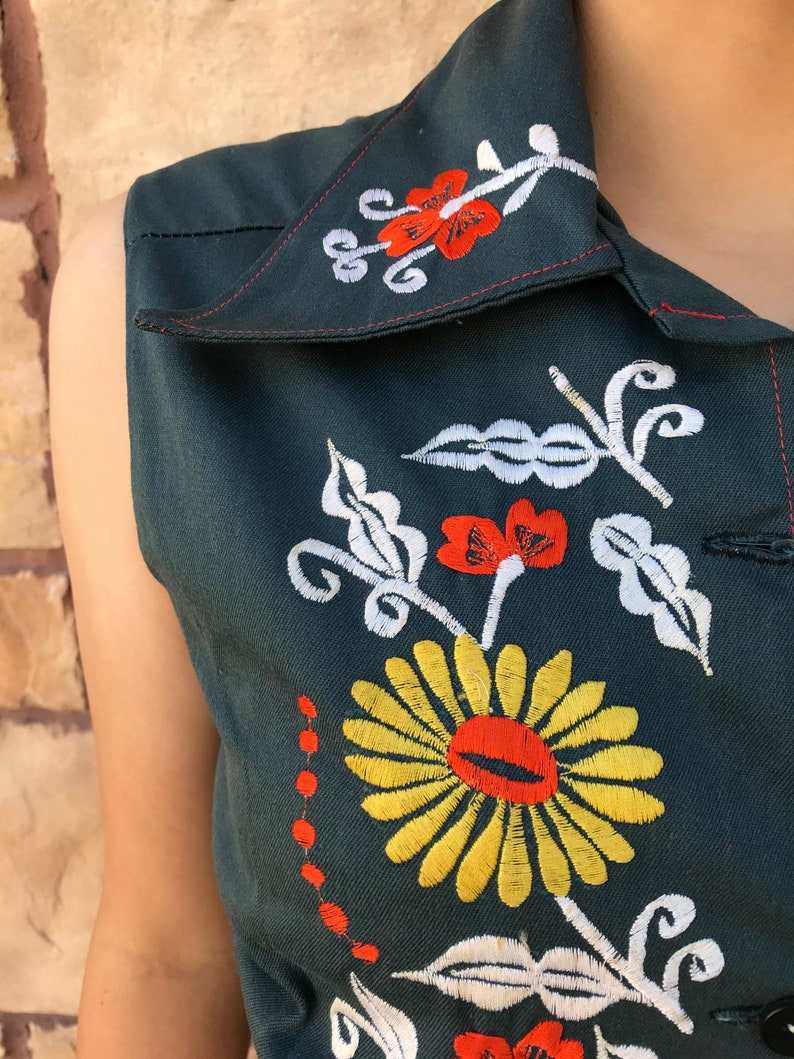 Mexican vest vintage 70/'s chaleco mexicana mexican party fiesta mexicano day of the dead cinco de mayo hippie boho bohemian cowgirl