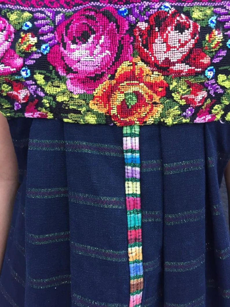 Overall dress mexican dress vestido mexicano mexican party fiesta mexicana frida kahlo mexican romper cross stitch hand-embroidered