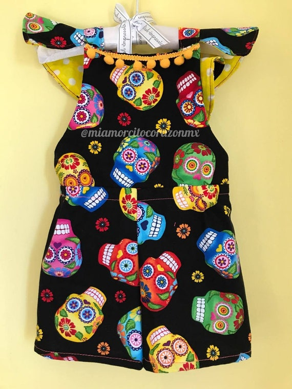 fdd64036f8d Mexican jumpsuit romper pompoms mexicanparty fiesta mexicana