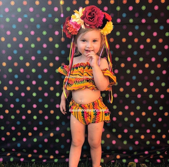Girl Fiesta Party Birthday Girl Outfit Birthday Smash Cake Outfit Cinco De Mayo 3-6 Months Baby Mexican Dress Holiday Dress