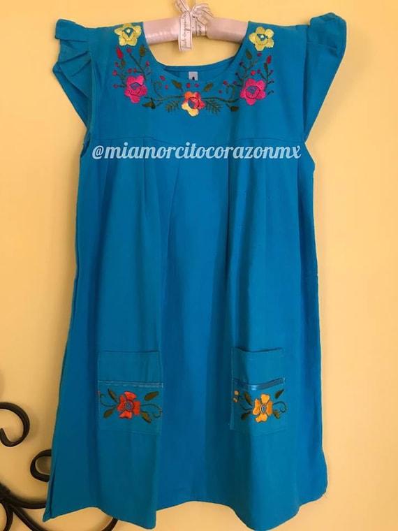 Mexican Dress Vestido Mexicano Mexican Party Frida Kahlo Fiesta Mexicana Cinco De Mayo Day Of The Dead Mexican Birthday Easter Dress