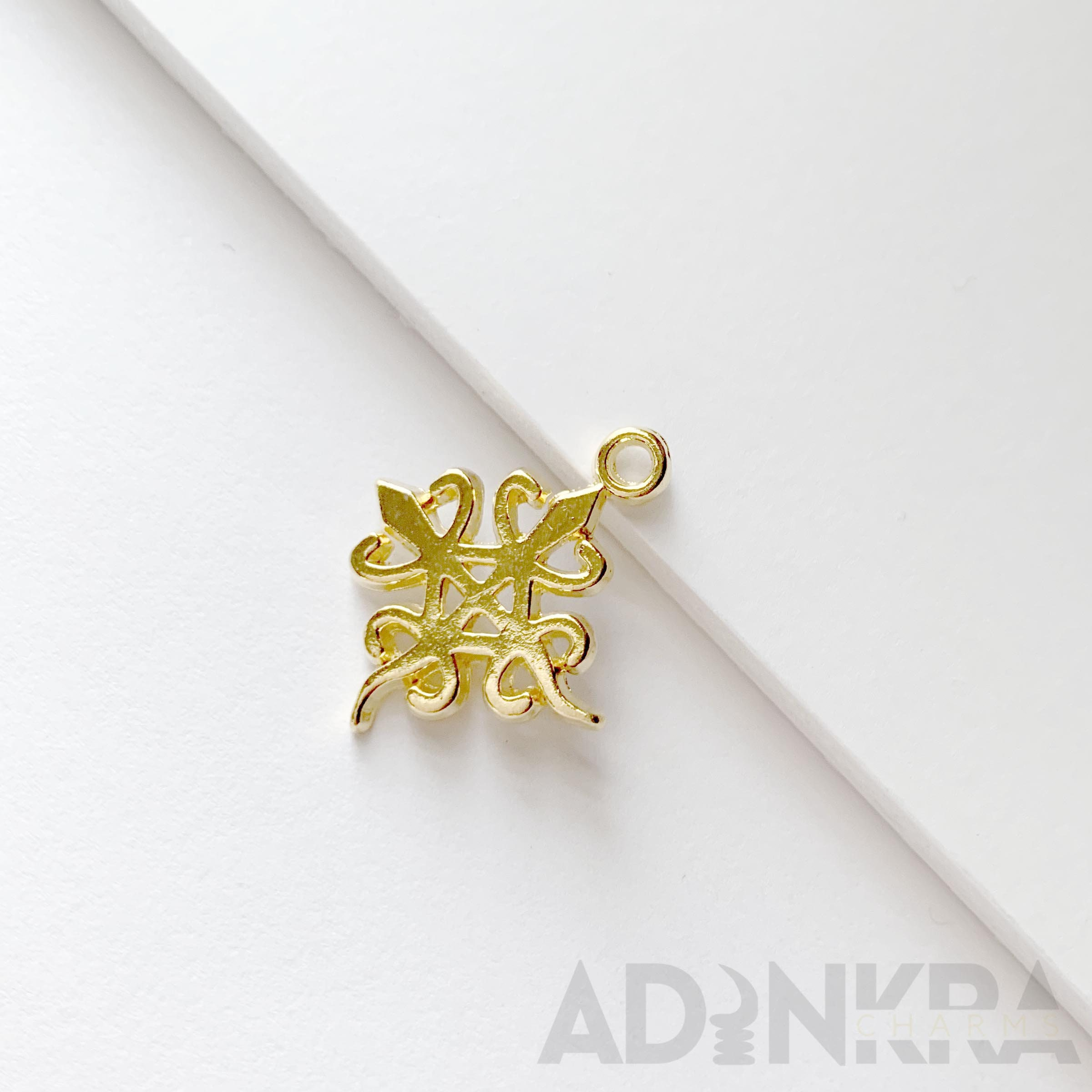 Silver  Gold plated Adinkra Charms