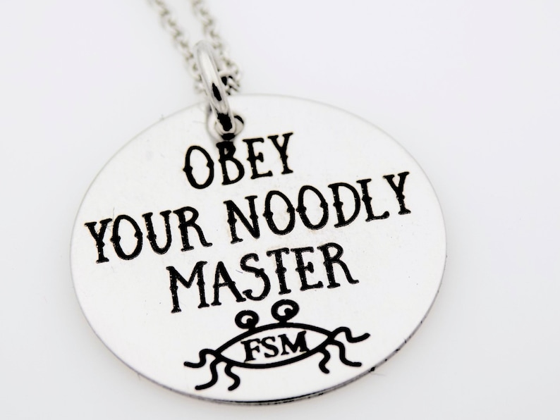 Flying Spaghetti Monster FSM Gift Obey your noodly master image 0
