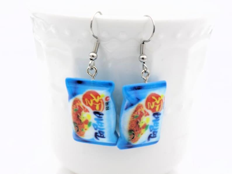 Tonkatsu Shio Ramen Soup themed gift for her- Miso Cup of Noodles Delicious looking food themed earrings Ramen Earrings Shoyu