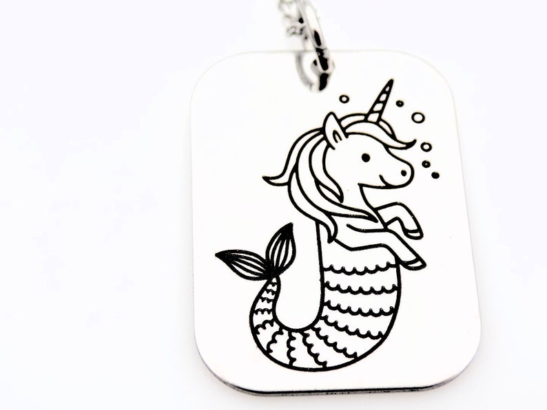 Mermaid unicorn jewelry gift for daughter sister best friend image 0